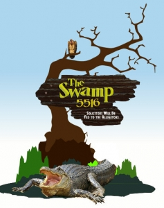 "This was my initial idea when given nothing but ""The Swamp"" for the name of the homeowners property"